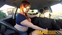Fake Driving School Examiner sprays cum all ove...
