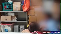 Officer talk trash while fucking teen Naomi Mae and cum on her ass preview image