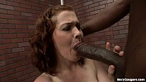 Cute MILF Takes A Big Black Dick Porno Her Hairy P...