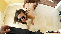 Luna Lovely's tight young pussy gets ripped by 2 cocks! Double Dick Domini @Ameriporn - 9Club.Top