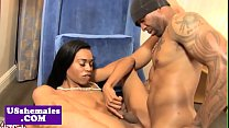 Ebony tgirl assfucked after cocksucking lover porn image