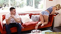 Natalia Starr swallow her step bros thick cock thumb