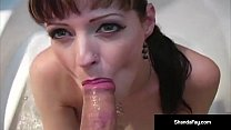 Lovely MILF Shanda Fay Sucks & Foot Fucks Nix's Cock in Tub!