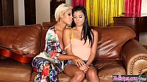 Step mom (Bridgette B) makes her lil teen (Gina Valentina) lick her pussy - Twistys