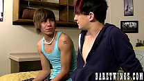 Emo twinks Andy Kay and Scott Alexander bare fuck and cum