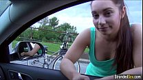 Jenny Dark hitches a ride and gets fisted in the woods