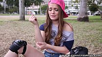 ExxxtraSmall  cumming on hot petite teen Monica... Thumbnail