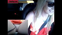 Sexy girl masturbates while driving on public road! صورة