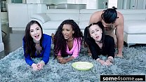 Pervy Stepbro Fucks Three Hot Teens At Pajama Party - Megan Winters, Demi Sutra, Bambi Black