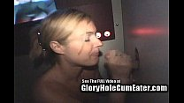 Silly Blonde Scrotum Sucker at Glory Hole! - Forsed porn thumbnail