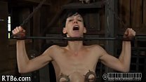 Beauty acquires dissolute teasing