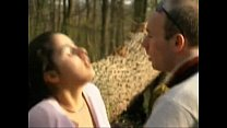 FRENCH CASTING n6 petite brunette teen in a forest.240p -More on CASTING-COUCH.ML