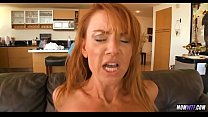 Athletic Redhead Cougar is still horny