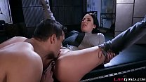 Stud tonguing Angela Whites yummy clit while he works the buttplug into her asshole