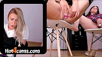 Office babe training the new employee on dildo fucking and squirting at work (part 1)   SEE ME LIVE at kate.hot4cams.com