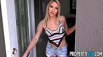 PropertySex - Hot blonde prefers landlord over boyfriend