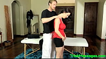 Bigtitted MILF cumsprayed during massage preview image