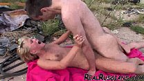 OUTDOOR FUCKING BY EURO AMATEUR COUPLE !!