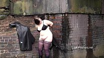 BBW amateur Emmas public masterbation and outdoor flashing of fat gal in homemad