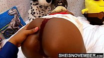 4k Please Pull My Panties Down Off Of My Cute Ebony Butt And Skinny Legs After You Squeeze My Juicy Ass Cheeks And Shake My Great Butt In Slow Motion , Look At My Shaved Pussy While My Thong Is At My Knees Msnovember HD Sheisnovember صورة