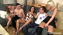 World cup football game turns into hot teen orgy!