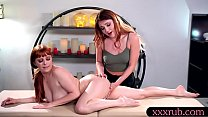 Hot masseuse and her client pussy and asshole l...