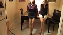Real estate agents Nikki Brooks and Jen Capone get house sold with footjob