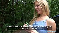 8399 Public Agent Horny blondes tight body fucked for cash in forest preview