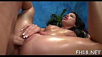 Pretty all natural fucked by massagist