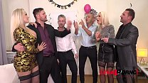 New Year's Eve DAP group sex orgy with busty Sophie Anderson & Angel Wicky FS034 - download porn videos