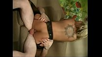 White guy lets black chick Charlie Angel deep throat his cock