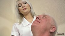12723 Young blonde hardcore blowjob and deep tight pussy fucking with grandpa in old young porn video preview