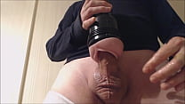 My solo 71 (Quick standing lubed up pink lady fuck and cum)