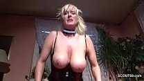 German Monster Natural Tits MILF Seduce To Fuck in Lingerie Vorschaubild