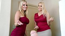 Two Stunning Blonde MILFs Decide To Rock Stepson's World - Vanessa Cage, Rachael Cavalli