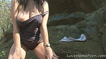 Going rock climbing with a kinky amateur chick thumbnail