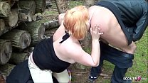 German Mature Teacher Fuck Young Boy Outdoor after School