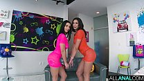 ALL ANAL Anal gaping threeway with Cassie and N...