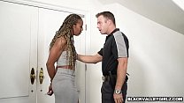 Police officer bangs Misty Stones ebony pussy Preview