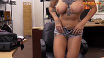 Tattooed woman nailed at the pawnshop
