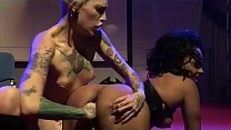 tattooed lesbian fisting live on stage