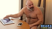 Older bear wanking off before feasting and riding raw cock pornhub video