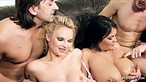 ▶▶ Two Hot MILF Moms Nuns with Big Boobs Talk to Rough Fuck at FFMM Foursome ◀◀