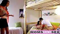 MomsTeachSex - Mom And Daughter Play With Dad Gone thumb
