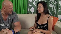 Hot Asian Vietnamese m. takes in her ass from W...