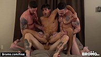 Bukkake Bitch Scene 1 featuring Blaze Burton and Carlos Lindo and Dane Stweart and Dante Stewart and Titus - BROMO