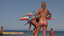 Amazing Hot Naked Blonde milf filmed at the beach voyeur cam