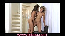 Lesbea Lovers share her hairy pussy