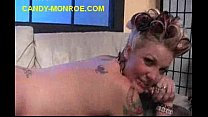 Cuckold Lick Black Cum from Her Backack preview image