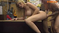 Big boobs blond babe drilled by pawn guy Thumbnail
